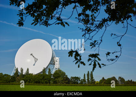The Jodrell Bank Observatory (originally the Jodrell Bank Experimental Station, then the Nuffield Radio Astronomy - Stock Photo