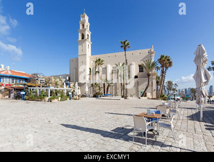 TEL AVIV, ISRAEL - MARCH 2, 2015: The st. Peters church in old Jaffa in Tel Aviv - Stock Photo