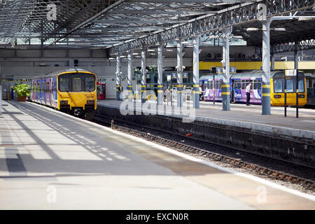 Pictures around Southport   Pictured  Southport merseyrail class 508 and 507  trains   The Monday to Saturday service - Stock Photo