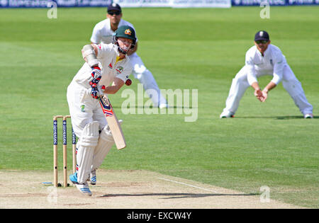 Cardiff, Wales, UK. 11th July, 2015. Chris Rogers of Australia batting during day four of the 1st Investec Ashes - Stock Photo