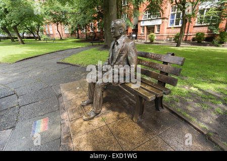 Alan Turing Memorial in Manchester,England. - Stock Photo