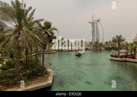 Madinat Jumeirah in Dubai. - Stock Photo
