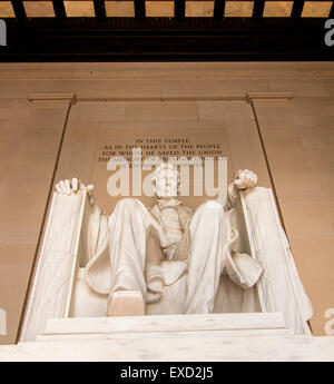 Lincoln Memorial: Lincoln Memorial a national monument in Washington DC built to honor the 16th President of the - Stock Photo