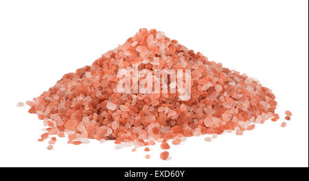 Himalaya Pink Salt isolated on white background - Stock Photo