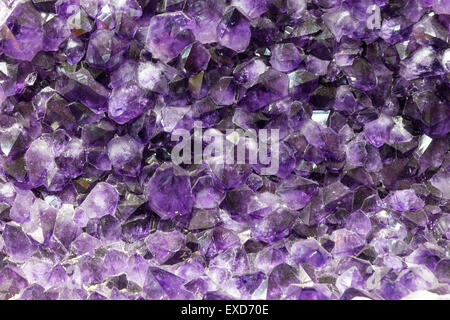 Background from an amethyst, a semi-precious stone - Stock Photo