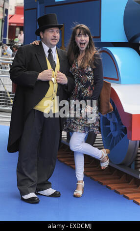 London, UK, UK. 12th July, 2015. Rebecca Keatley attends the UK premiere of, Thomas & Friends: Sodors's Legend Of - Stock Photo