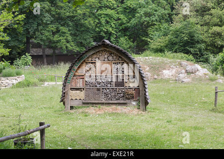 Insects hotel in city park Paris, France - Stock Photo