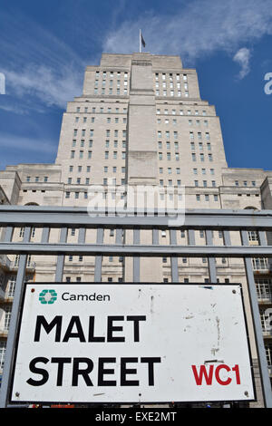 Charles Holden's Senate House, University of London, Malet Street, London, WC1E, UK - Stock Photo