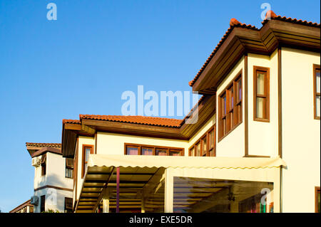 Renovated traditional Ottoman houses in Turkey - Stock Photo