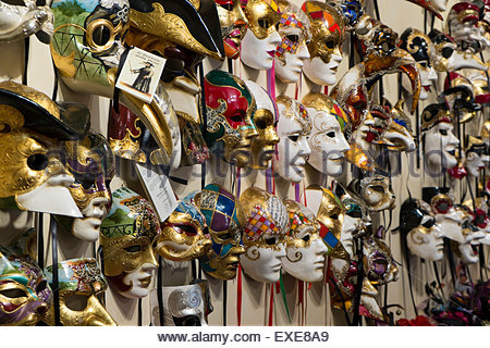 Venetian Masks, Venice, Italy - Stock Photo