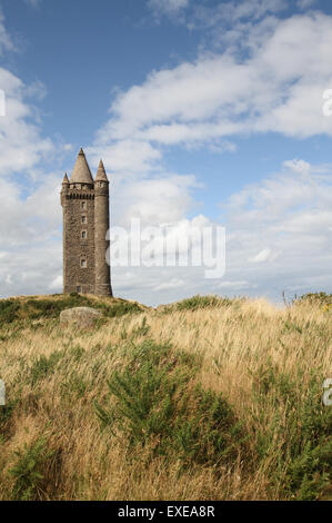 Scrabo Tower at Newtownards County Down Northern Ireland - Stock Photo