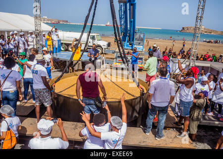 Praia, Cape Verde. 12th July, 2015, Cachupa is the typical Cape Verdean dish. June 12 was made a record attempt - Stock Photo