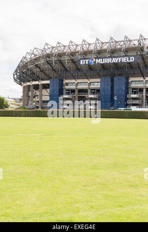 EDINBURGH, SCOTLAND, UK - 8 JULY 2015: BT Murrayfield Stadium - Stock Photo