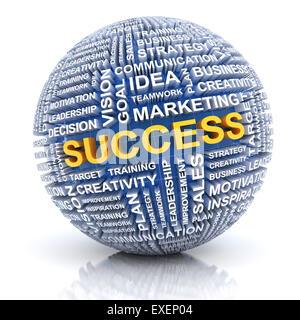 Business success concept, 3d render - Stock Photo