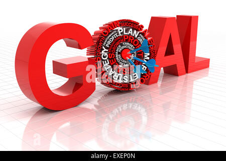 Business goal and target - Stock Photo
