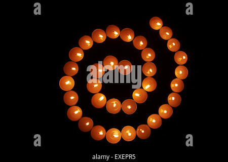 indian diwali Festival Candles Nobody - Stock Photo