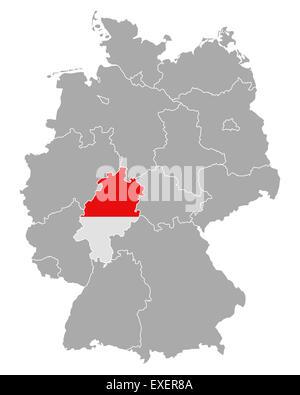 germanyhessegermany map Stock Photo 72743514 Alamy