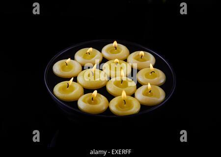 indian diwali Festival Arranging bowl Diya Nobody - Stock Photo
