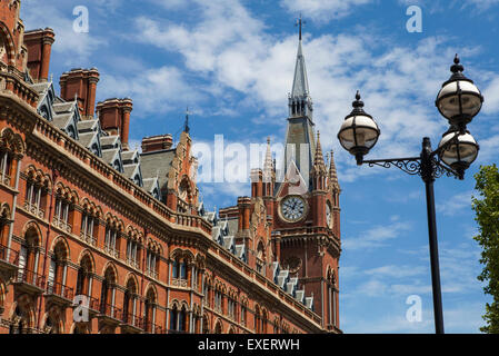 LONDON, UK - JULY 10TH 2015: The former Midland Grand Hotel in Kings Cross, London on 10th July 2015.  The building - Stock Photo