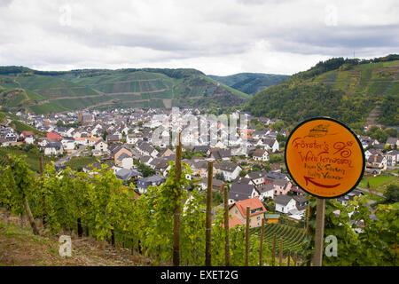 Europe, Germany, Rhineland-Palatinate, Eifel region, the village Dernau at the river Ahr.  Europa, Deutschland, - Stock Photo
