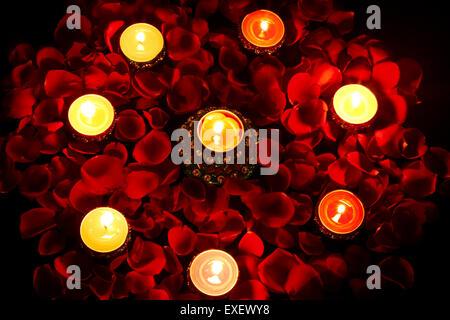 indian diwali Festival Diya Nobody - Stock Photo