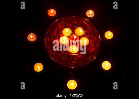 indian diwali Festival Bowl Candle nobody - Stock Photo
