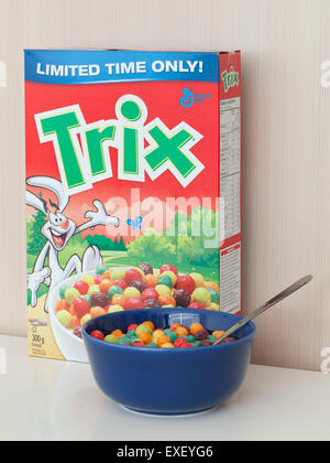 a box and bowl of trix cereal stock photo 85154206 alamy