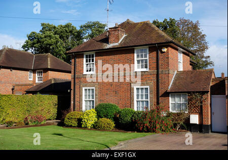 Link detached house in Welwyn Garden City - Stock Photo