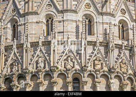 Closeup Of Dome Of The Baptistry of St. John Pisa Tuscany Italy - Stock Photo