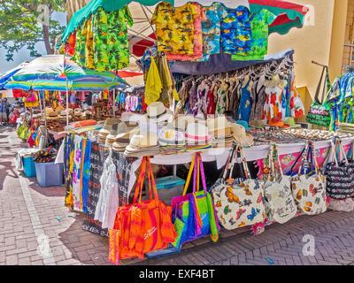 Open Air  Market Philipsburg Saint Martin West Indies - Stock Photo
