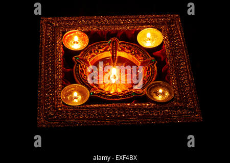 indian diwali Festival diya Nobody - Stock Photo