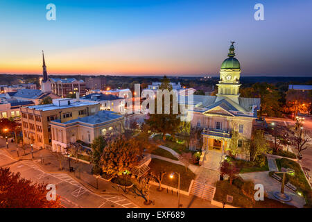 Athens, Georgia, USA downtown cityscape. - Stock Photo