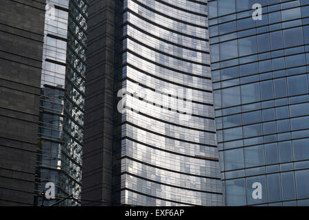 Unicredit Tower detail, Milan, Italy - Stock Photo