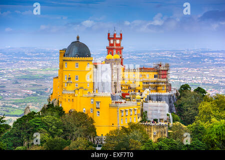 Sintra, Portugal at Pena National Palace. - Stock Photo