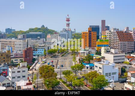 Wakayama City, Japan downtown cityscape. - Stock Photo