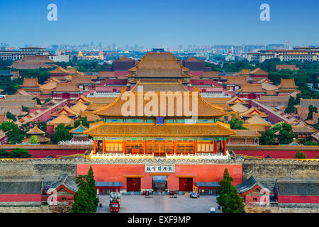 Beijing, China at the ancient Forbidden City. - Stock Photo