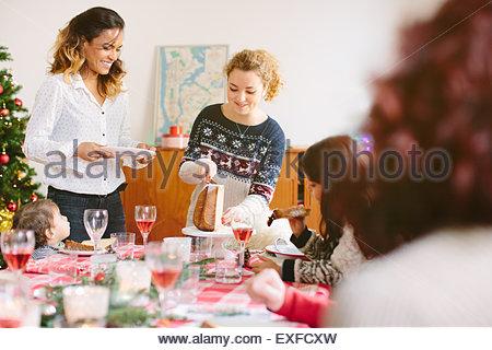 Family Christmas party - Stock Photo