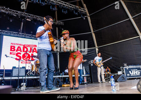 Praia, Cape Verde. 12th July, 2015, World music festival 'Badja Ku Sol' Credit:  António Gomes/Alamy Live News - Stock Photo