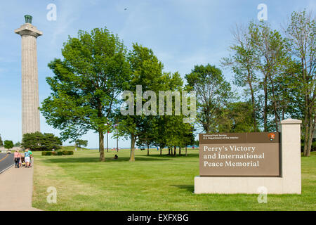 Perry's Victory and International Peace Memorial on South Bass Island in Put-in-Bay Township, Ohio. - Stock Photo