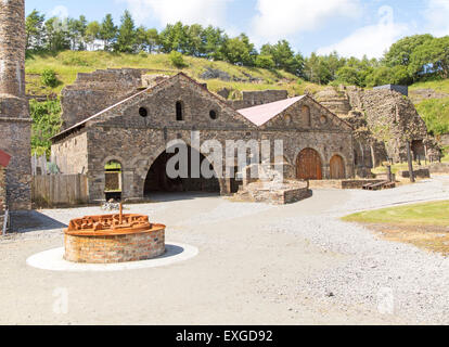 Ironworks museum industrial archaeology,  UNESCO World Heritage site, Blaenavon, Monmouthshire, South Wales, UK - Stock Photo