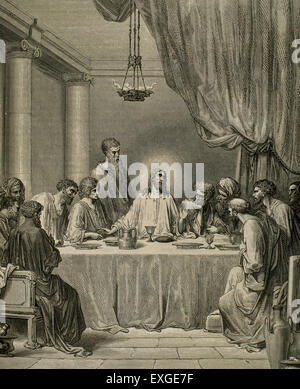 The Last Supper by Gustave Dore (1832-1883). - Stock Photo
