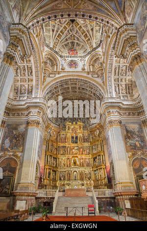 GRANADA, SPAIN - MAY 29, 2015: The sanctuary and cupola of church Monasterio de San Jeronimo. - Stock Photo