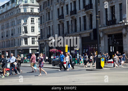 Oxford Circus Crossing in London UK - Stock Photo