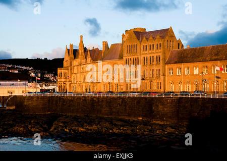 Sunset on Aberystwyth University - Wales - Stock Photo