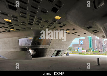 Phaeno science museum in Wolfsburg, modern organic architecture,  Lower Saxony  Germany  Europe - Stock Photo