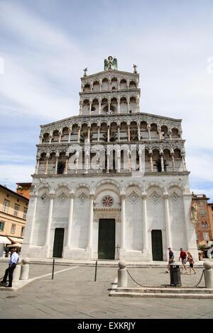 St Martin's Cathedral (Duomo di San Martino) Lucca, Tuscany, Italy - Stock Photo