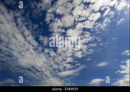 Small fluffy clouds, Cirrocumulus, Bavaria, Germany - Stock Photo