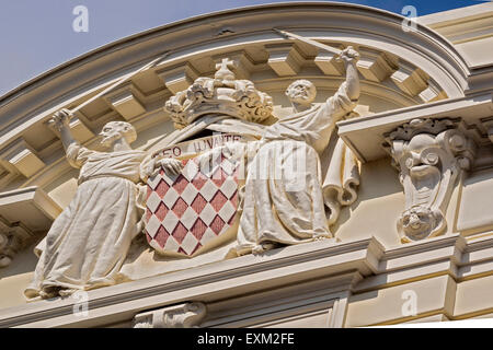 The Court Of Justice Emblem Monte Carlo Monaco - Stock Photo