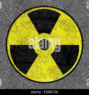 Yellow and black Nuclear icon - Stock Photo