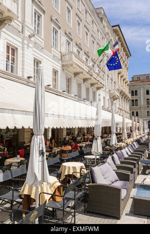 Cafe degli specchi piazza unita trieste stock photo - Caffe degli specchi ...